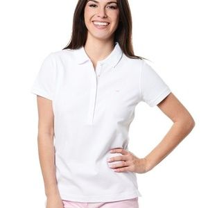 Vineyard Vines Size Small White Polo Pink Whale